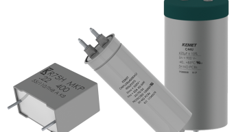 The C44U-M, C44P-R, and R75H metallized polypropylene dielectric film capacitors from Kemet are aimed at renewable energy and industrial DC-link applications as well as automotive designs.