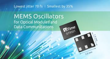 Small MEMS oscillator delivers breakthrough 70-fs jitter