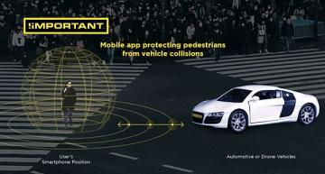 'Digital seatbelt' app protects pedestrians from connected vehicles