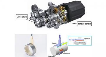 Non-contact torque sensor for drive shafts in motor vehicles