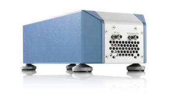 Q/V band RF upconverter for testing satellite payloads