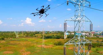 Drone sensor method to detect, avoid urban power wires