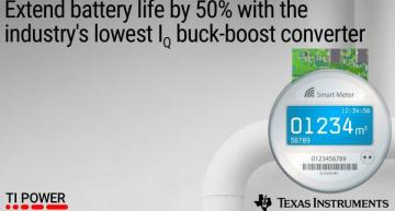 DC/DC buck-boost converter extends battery life by 50%