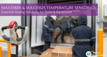 Analog temp sensor ICs protect goods, equipment