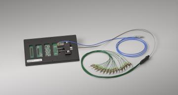 Optical test probe card for photonic circuits