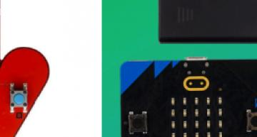 The RISC-V-based BBC HiFive Inventor board (left) is taking on an upgraded version of the ARM-based BBC micro:bit