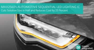 Automotive sequential LED lighting IC cuts size, cost