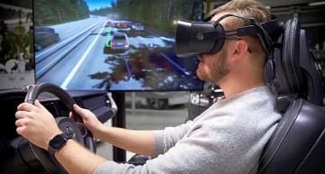 'Ultimate driving simulator' uses gaming tech to design safer cars