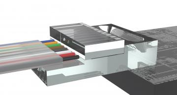 Optoscribe in Scotland has launched a monolithic glass chip for low-loss coupling to silicon photonics (SiPh) gratings.
