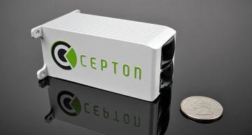 Smallest wide-FOV lidar sensor for near-range sensing