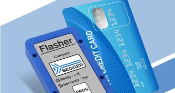 Credit-card-size universal flash programmer