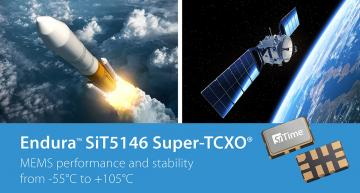 MEMS TCXO targets airborne and cold temperature terrestrial applications