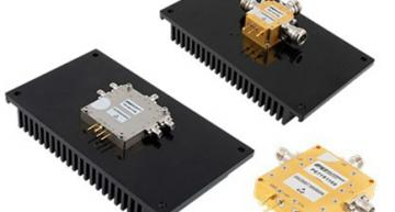 High-power PIN diode coaxial packaged switches