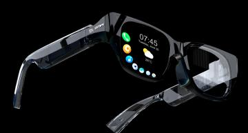Fully self-contained wireless AR smart glasses