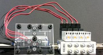 Pneumatic random-access memory for controlling soft robots