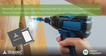 3-phase MOSFET gate driver maximizes battery life