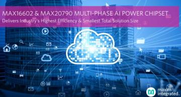 AI power chipset enables high efficiency, small solution size