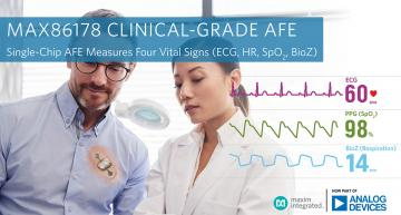 Clinical-grade AFE measures four vital signs