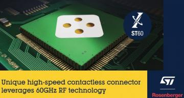High-speed contactless connector based on 60GHz wireless technology