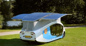 Solar powered camper van has 730km range