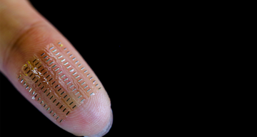 Supercapacitor is smaller than a speck of dust