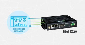 Digi International's Digi IX20 is an industrial router that provides adaptable connectivity in industrial infrastructure, location monitoring and retail applications.