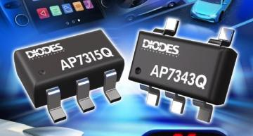 Diodes' AP7315Q and AP7343Q low drop out (LDO) linear regulators deliver 150mA and 300mA