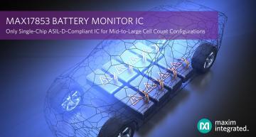 Circuit moniteur de batterie conforme ASIL-D du marché
