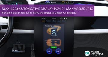Circuit de gestion d'alimentation d'écrans automobiles offrant jusqu'à 50% de gain de place