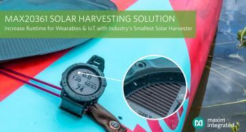 Circuit de récolte d'énergie solaire miniature