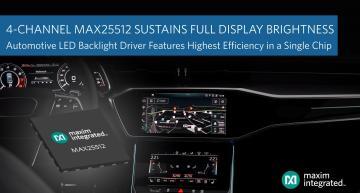 Driver de rétroéclairage automobile à convertisseur boost intégré