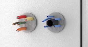 Entrées de câbles rondes pour combinaisons de diamètres jusqu'à 22,5 mm