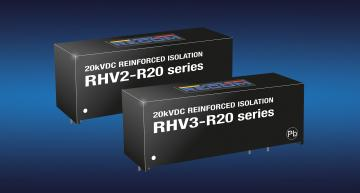 Recom's RHV2 and RHV3 2W and 3W unregulated DC-DC converters have isolation ratings of 12.5kVAC/one minute or 20kVDC/one second in a SIP16 package