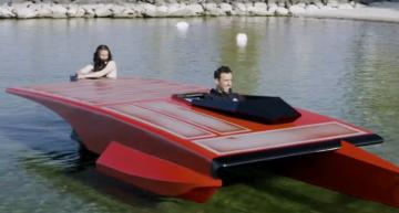 $1m solar hydrofoil takes to the water - video