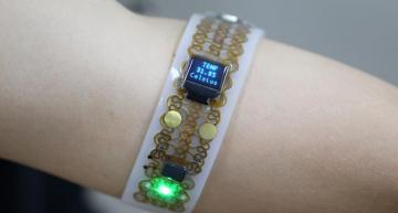 Researchers in Korea have developed a technology using gallium metal that can soften and change shape when attached to skin.