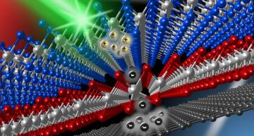 Researchers from the University of Kansas have connected a graphene layer with two other atomic layers (molybdenum diselenide and tungsten disulfide), thereby extending the lifetime of excited electrons in graphene by several hundred times. Credit: Matthew Bellus.