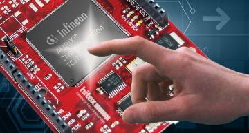 Hitex' new ShieldBuddy TC375 is a compact AURIX development board that features the Infineon TC375 32-bit multi-core processor.
