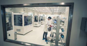 Solid state battery development line at Imec