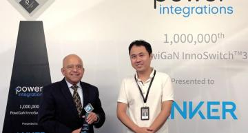 Power Integrations has shipped over a million gallium nitride (Gan) devices to consumer power adaptor maker Anker