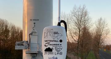 First wind powered IoT network gateways on turbines