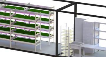LEDs power farm-in-a-container