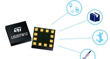 STMicro hasTri-axis MEMS accelerometer with built-in thermometer