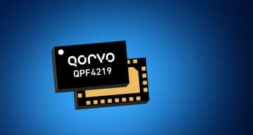 Mouser Electronics is stocking Qorvo's QPF4219 front end module (FEM). Based on Wi-Fi 5 (802.11ac), the 2.4 GHz FEM has a compact form factor and integrated matching.