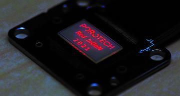 World's first native red InGaN microdisplay