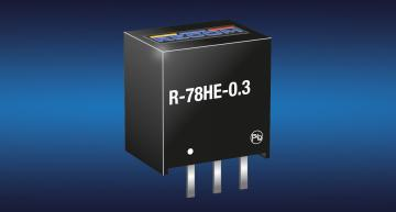 Recom's R-78HE5.0-0.3 regulated DC-DC converter has a 72V input for 48V battery and industrial systems