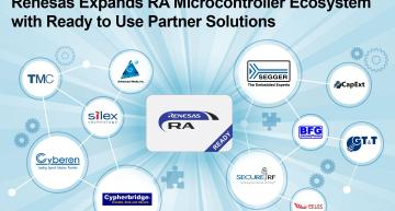 Renesas has announced the first 10 ready to use partner solutions that support Renesas Advanced (RA) MCU family of 32-bit Arm Cortex-M MCUs.