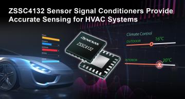 Renesas has launched an automotive pressure sensor device that has an integrated certified LIN v2.2a interface.