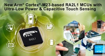 Renesas ultra-low power RA MCU family with touch sensing