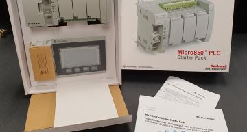 RS Components is now stocking two PLC starter packs from Allen-Bradley, which is part of the Rockwell Automation group.