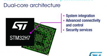 STMicroelectronics' STM32H7 MCU range provides high-performance dual-core Arm Cortex-M MCUs with power-saving features and enhanced cyber protection.